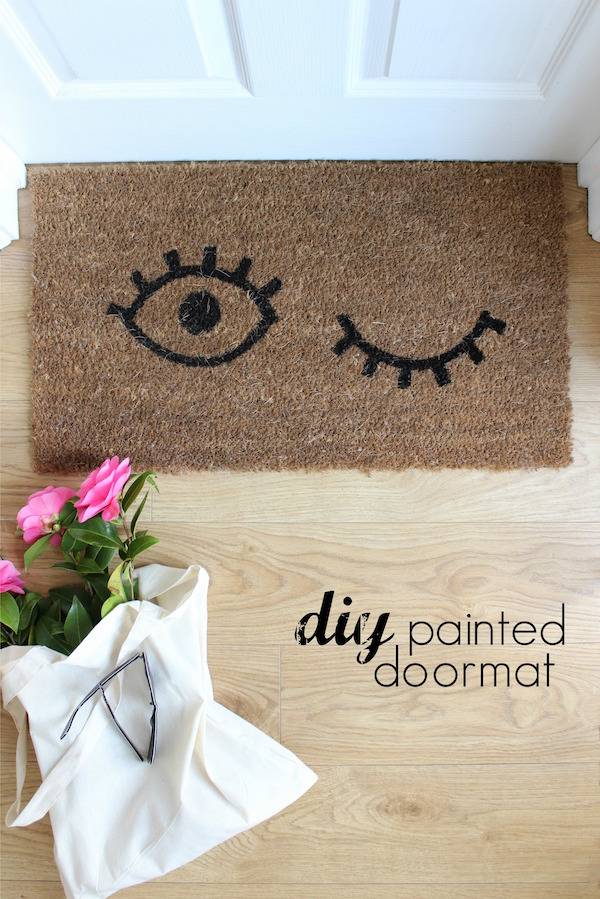 DIY painted doormat tutorial | Growing Spaces
