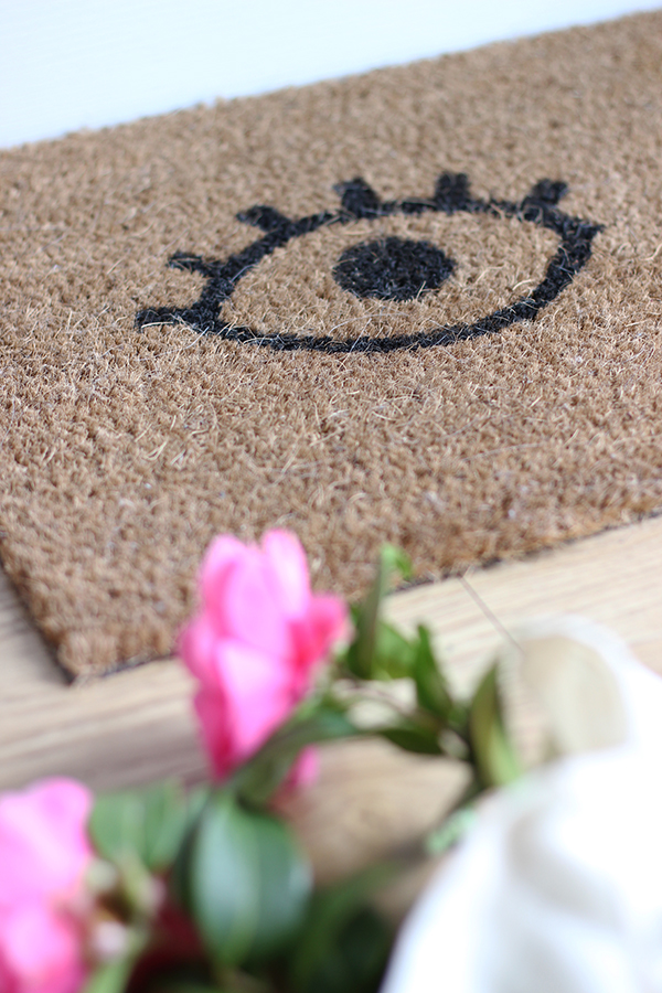 DIY painted doormat | Growing Spaces