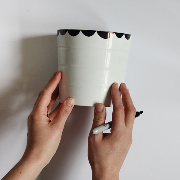 DIY Sharpie plant pot tutorial | Growing Spaces