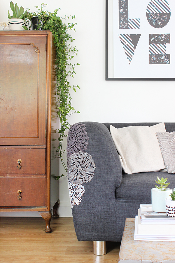 How to patch a frayed sofa arm | Growing Spaces
