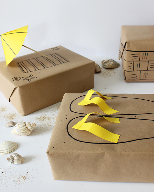 Seaside gift wrap ideas for summer birthdays | Growing Spaces