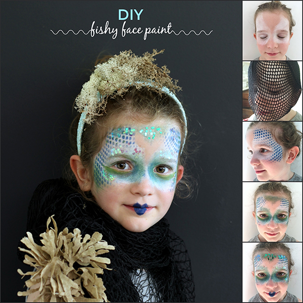 Fish face paint tutorial | Growing Spaces
