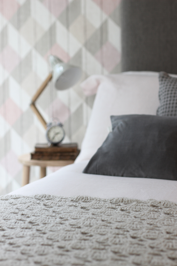 Modern country bedroom makeover with Sharps