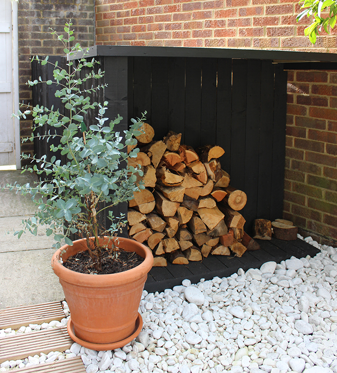 DIY log store | Growing Spaces