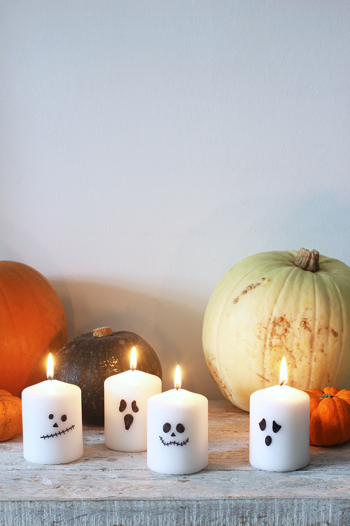 Super-easy DIY Halloween candles | Growing Spaces