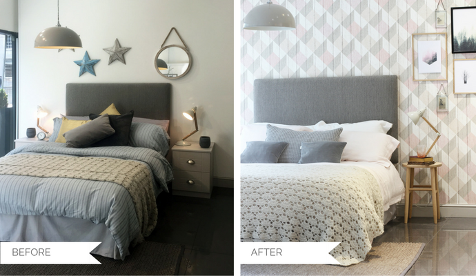 Modern country bedroom makeover with Sharps\' Henley range ...