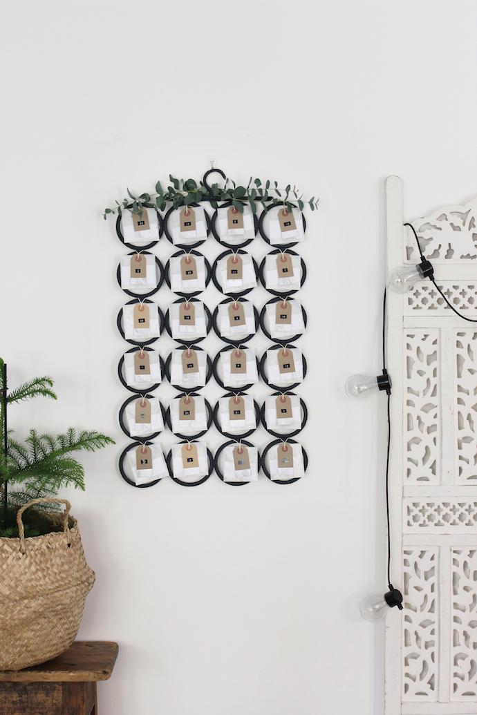 DIY contemporary Christmas advent calendar | Growing Spaces