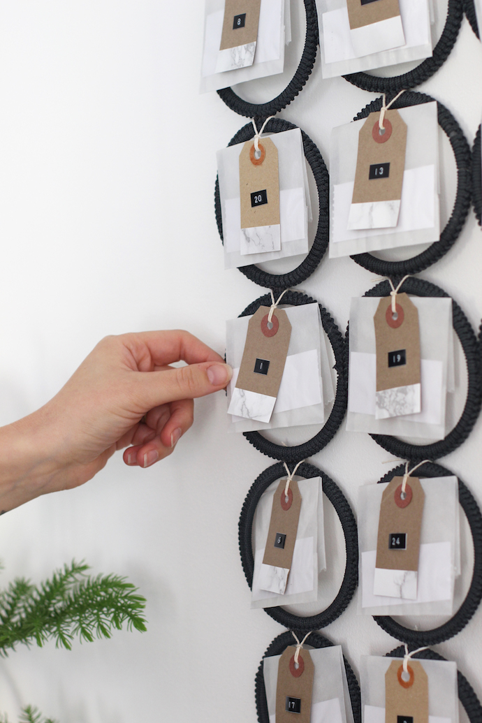 DIY contemporary Christmas advent calendar | Growing Spaces