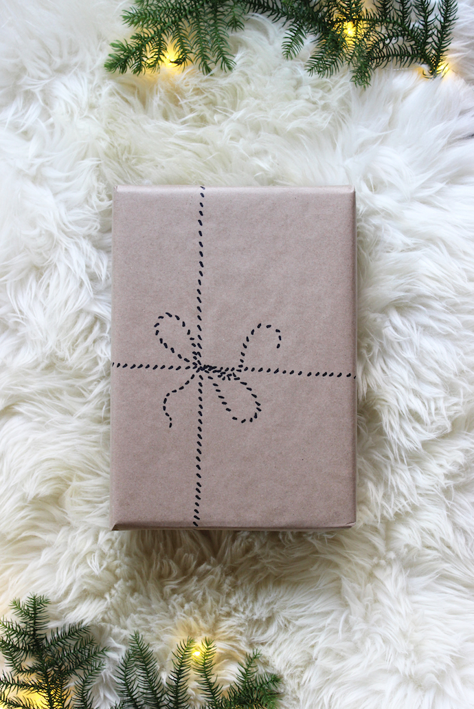 5 Kraft paper gift wrap ideas | Growing Spaces