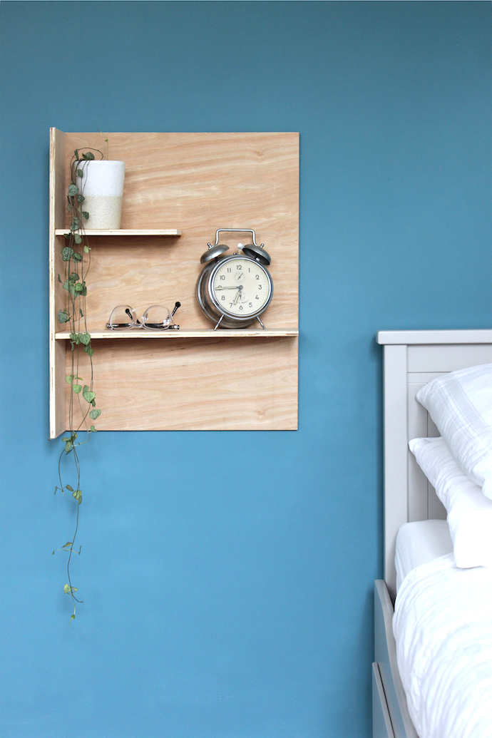 DIY plywood bedroom shelves | Growing Spaces