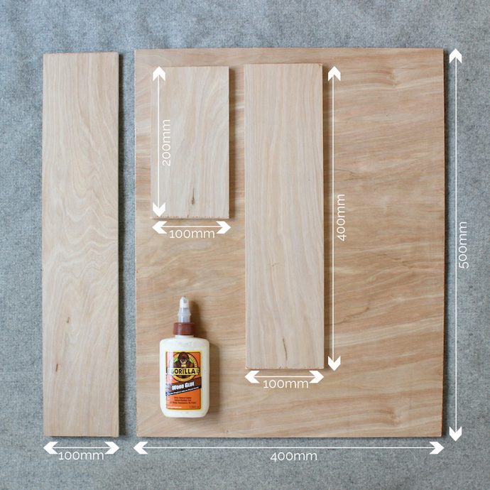 DIY plywood bedside shelf | Growing Spaces