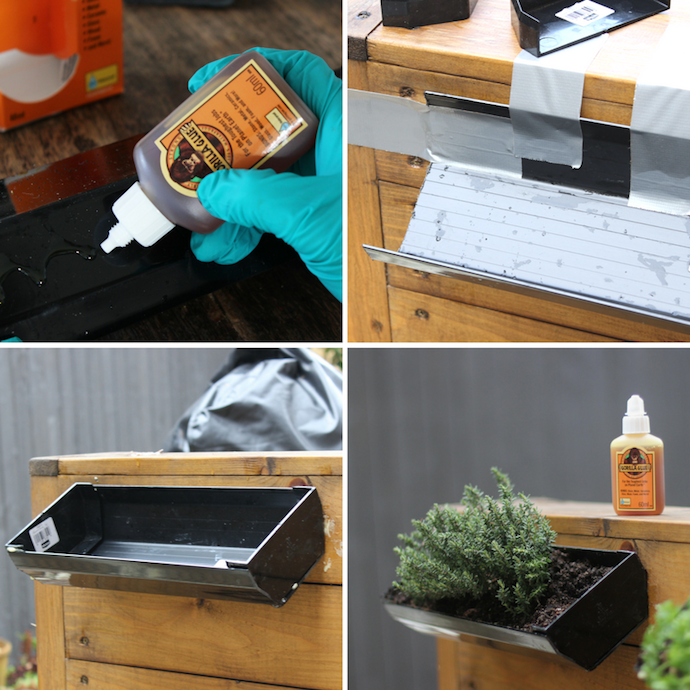 DIY gutter herb planter | Growing Spaces
