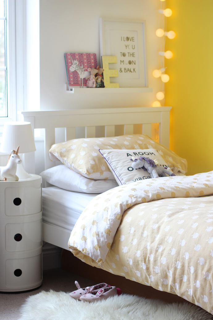 How to add fun colour to a kid 39 s room growing spaces for Bedroom designs yellow