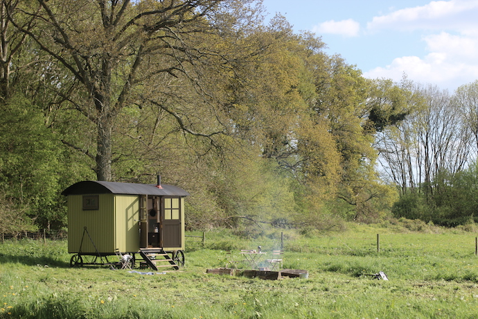 Canopy & Stars: Family-friendly shepherd's hut at Wriggly Tin