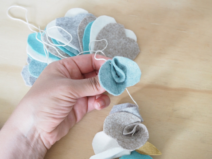 DIY felt flower garland | Growing Spaces