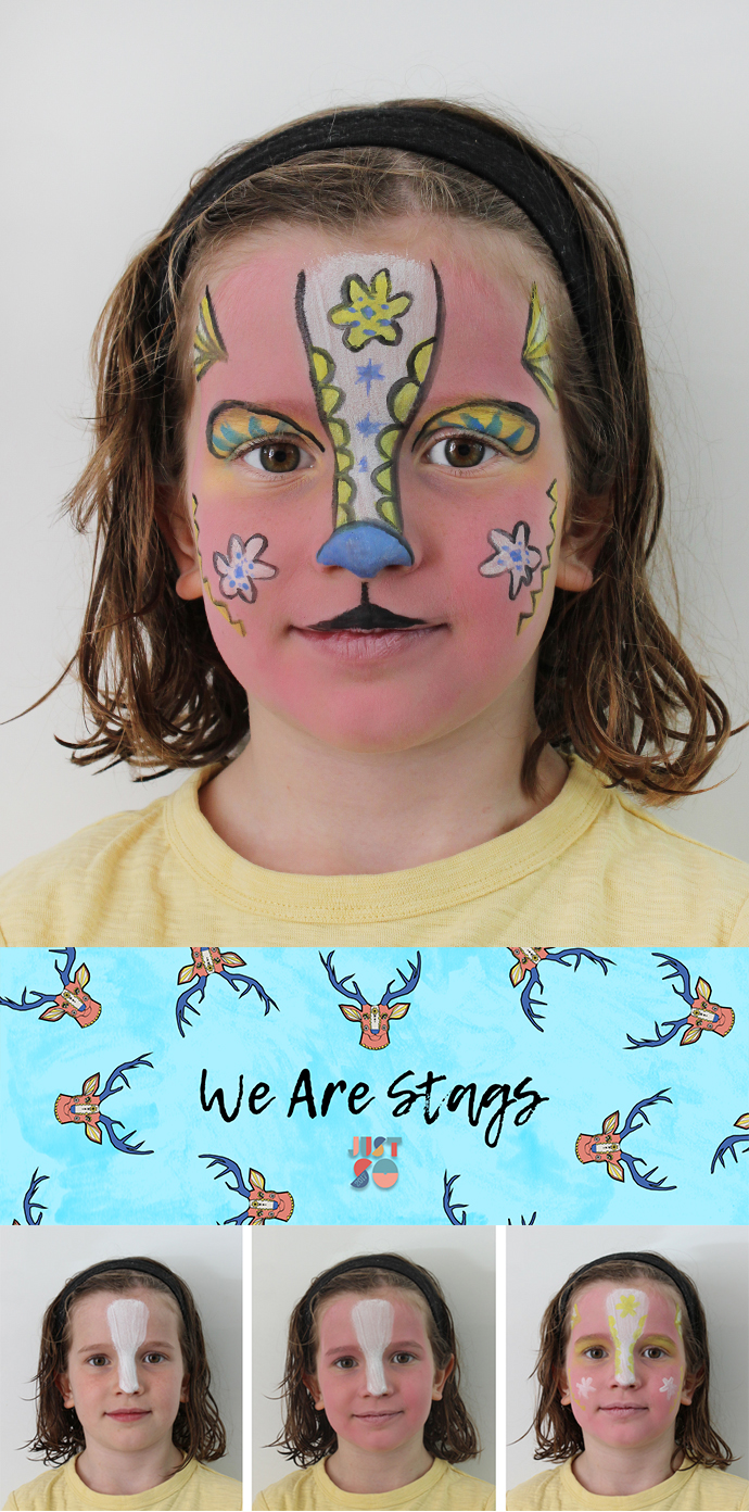 Stag face paint | Just So Festival 2017