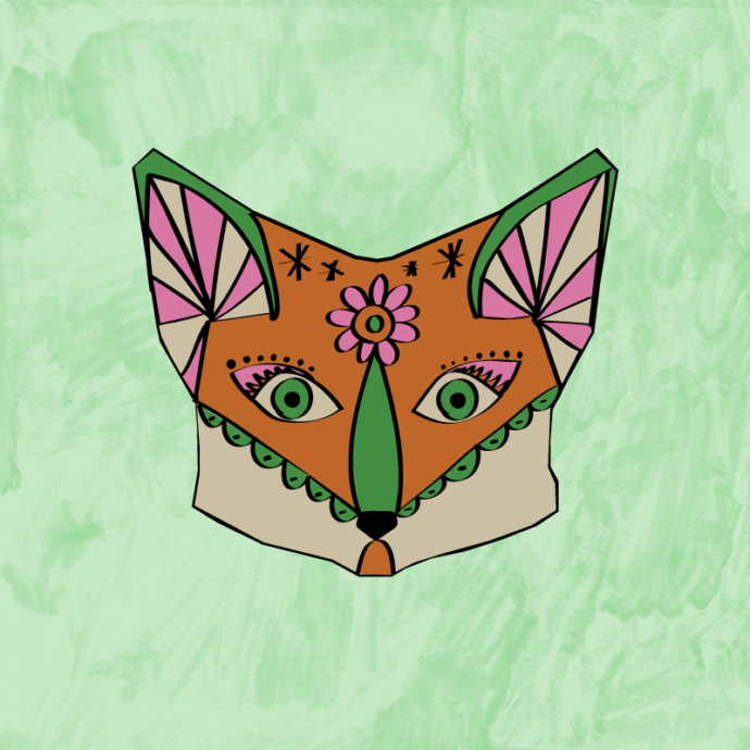 Fox face paint | Just So Festival 2017