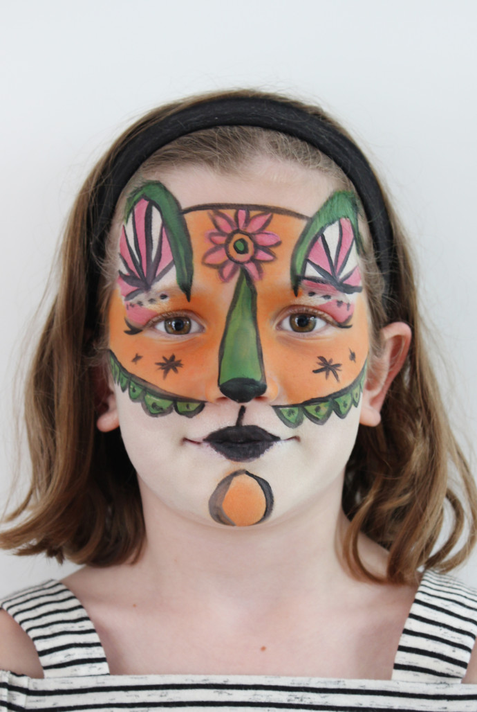 Fox face paint: Just So Festival 2017