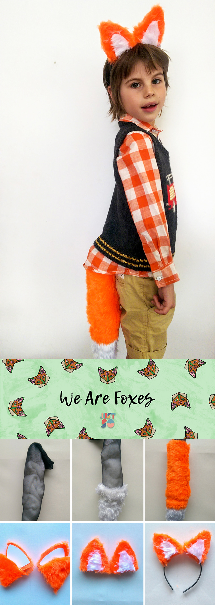 Easy no-sew fox costume | Growing Spaces