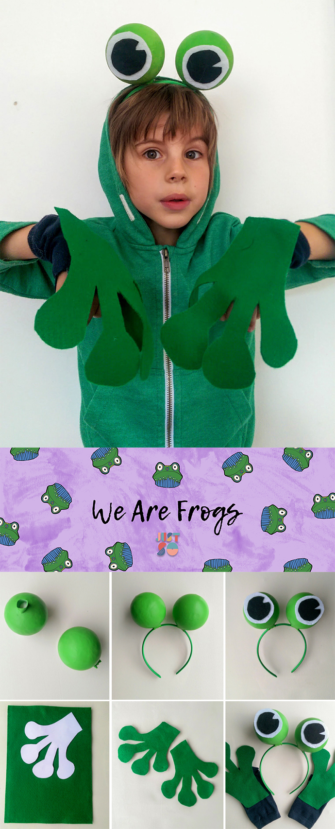 Easy no-sew frog costume | Just So Festival 2017