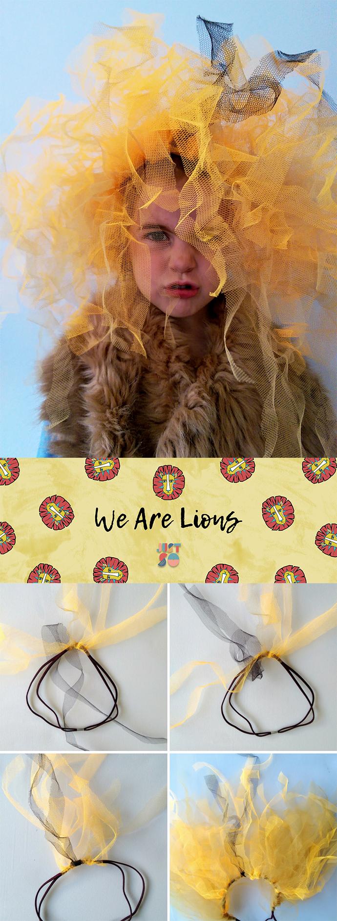 Easy lion headdress | Just So Festival 2017