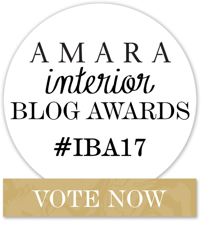 Better late than never – still time to vote (for me!) in the Amara Interior Blog Awards