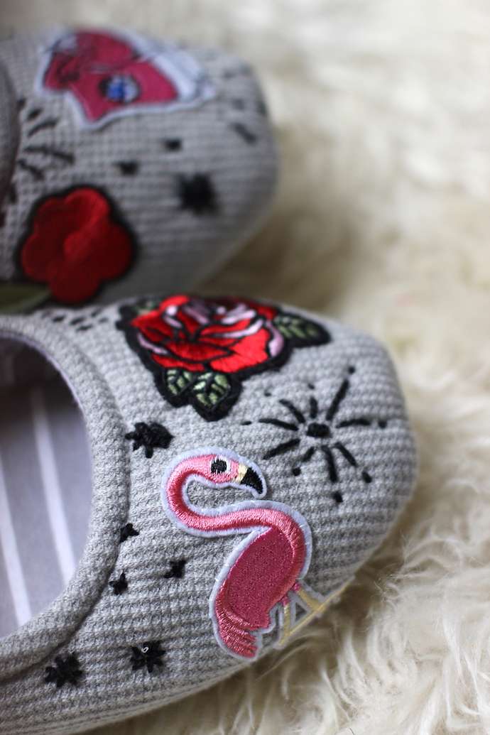 Easy DIY slippers: use iron-on patches for a super-simple hack