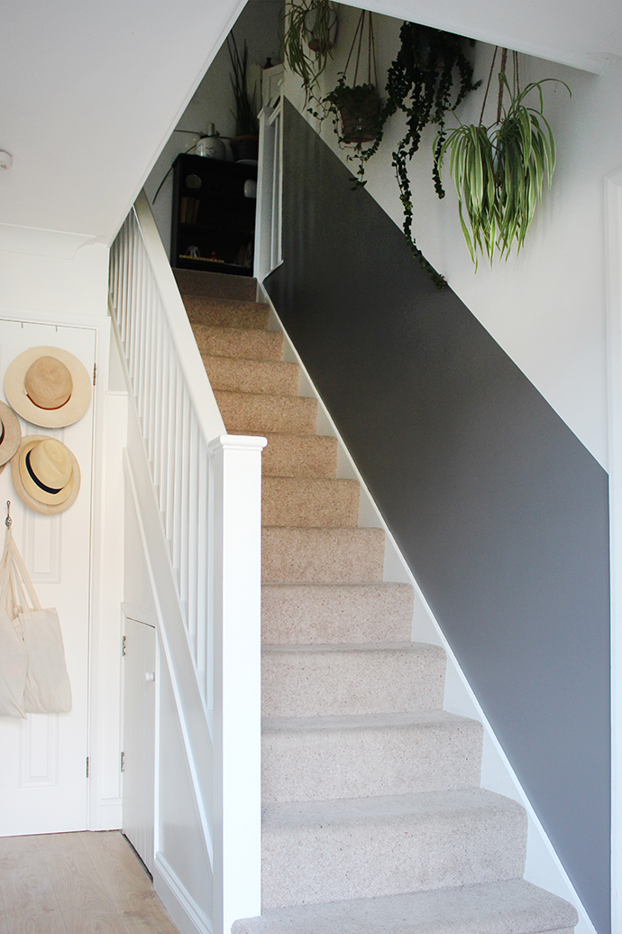 Half-painted stairway wall | Growing Spaces